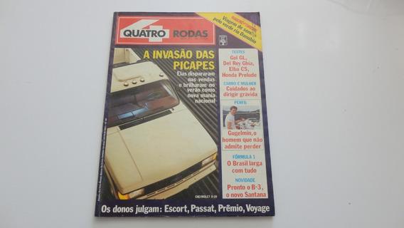 Revista Quatro Rodas # Número 332 Ano 1988 # Ótimo Estado