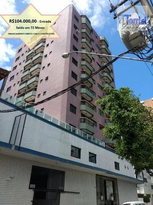 Apartamento Em Praia Grande, 02 Dormitórios. Prédio Com Elevador, Salão De Jogos E Festas No Forte Ap1726 - Ap1726