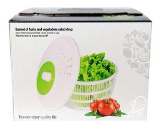 Secador Centrifugador De Lechugas Verduras Frutas Y Verdura Manual Ensaladas Spinner Escurridor