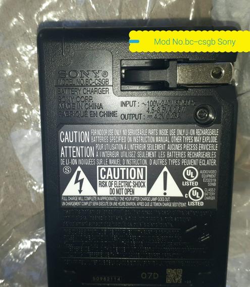 Carregador Bateria Sony Original 4.2v=0.25 A Mod:bc-csgb