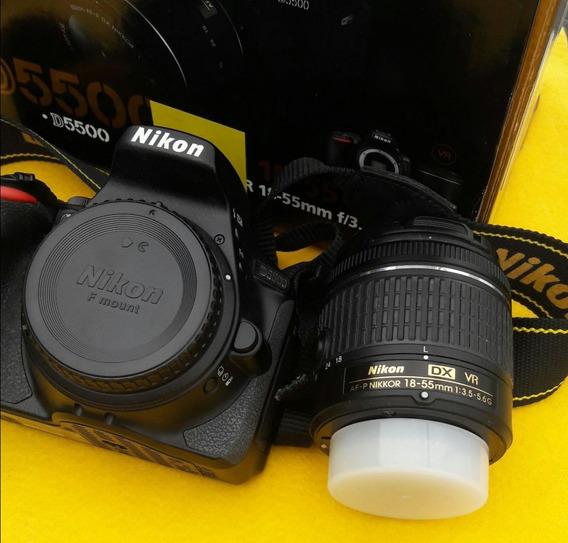 Nikon D5500 Câmera E Lente Nikkor Af-p Dx Vr 18-55mm