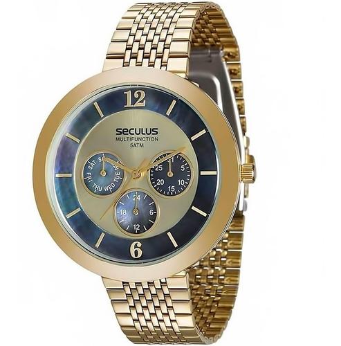 Relógio Feminino Seculus 20541lpsvds1 Barato Original