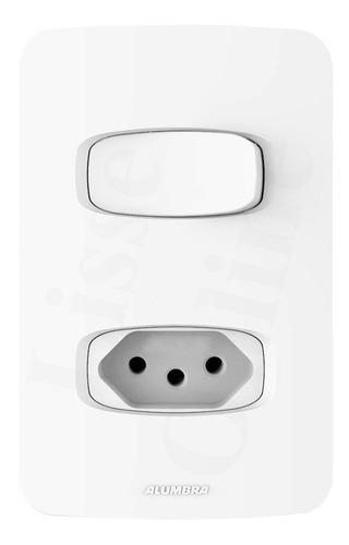 Conjunto 1 Interruptor Simples + 1 Tomada 10a Alumbra Gracia