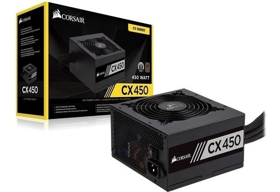 Fonte Corsair Cx450 450watts Pc Gamer 80 Plus