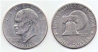 1976-1776 Bicetennial Eisenhower Dollar Coin Ike Dollar, Col