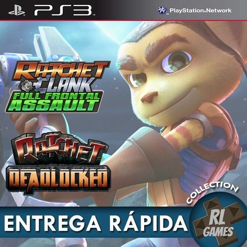 Ratchet E Clank Full Frontal Assault + Deadlocked - Ps3 Psn*