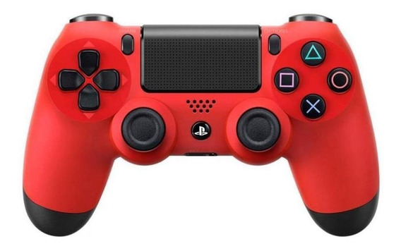 Controle joystick Sony Dualshock 4 magma red