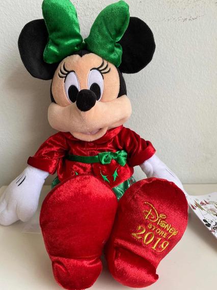 Pelúcia Minnie Mouse De Natal - Disney Original 2019