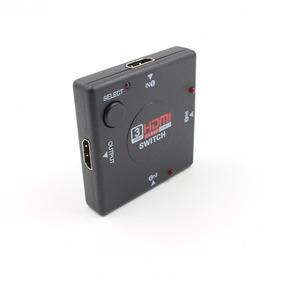 Switcher Três Hdmi Da Caixa Quadrado 3-port Em Um Conversor