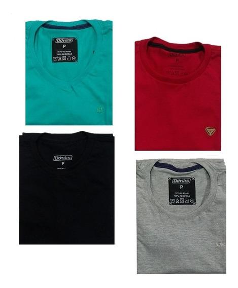 Kit 4 Camisetas Básicas Dótilis + Brinde