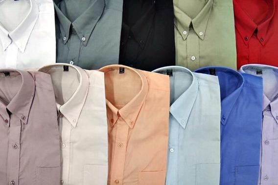 Camisa Lisa Con Bolsillo Manga Larga - Talles Especiales 56 Al 60 - Vestir Y Elegante Sport - Excelente Calidad