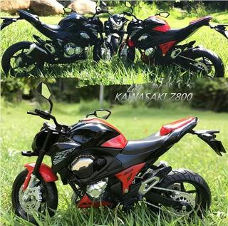 Miniatura Moto Kawasaki Z800 Rica Em Detalhes 17 Cm