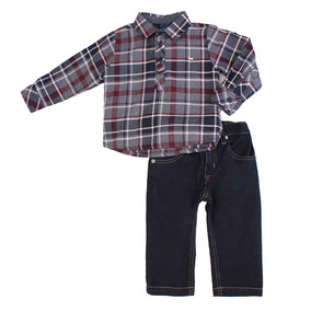 Conjunto Bebê Masculino Camisa E Calça Jeans
