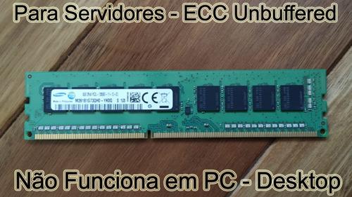 Imagem 1 de 1 de Memória 8gb Ddr3 Pc3l-12800e Udimm P/ Server Dell Hp Ibm