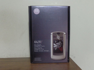 Celular Motorola Razr2 V8 Dourado Funcionando + Fone - Raro