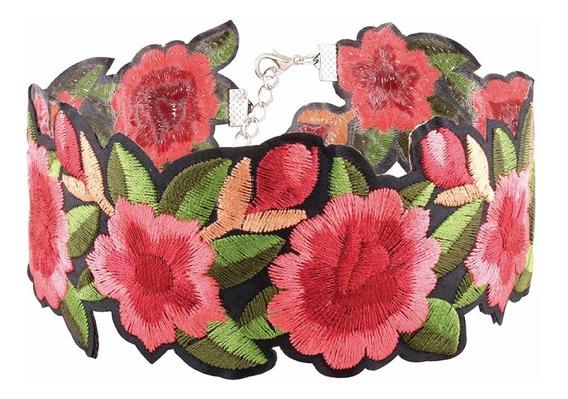 Collar Gargantilla Flores Tatuajes Steampunk