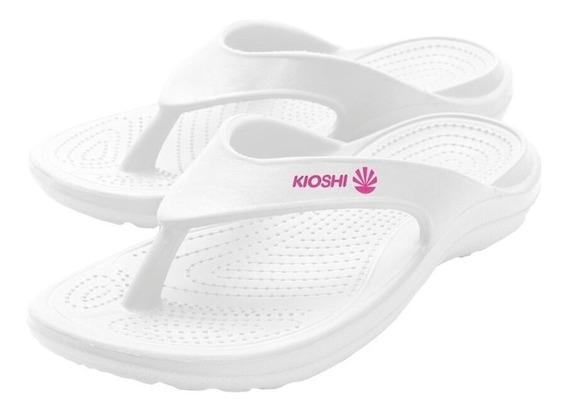 Kioshi Flip Flops White Fucsia Women & Teens