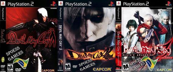 Devil May Cry Ps2 Coleção (3 Dvd) 1 E 3 Em Portugues Patch .