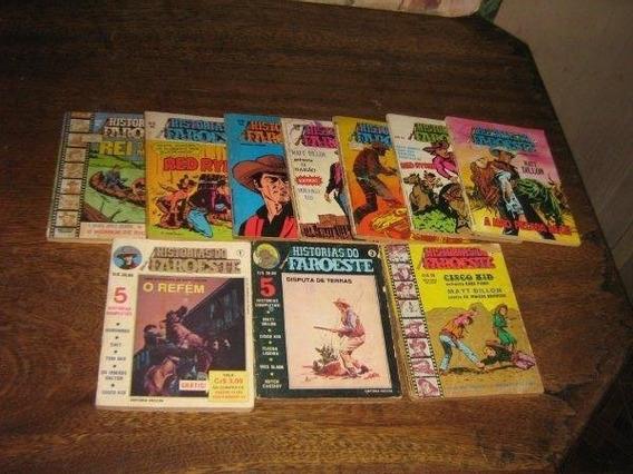 Historias Do Faroeste Lote C 10 Edições Vecchi 1979 Original