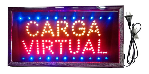 Cartel Luminoso Led Carga Virtual 48 X 25 Cm Oferta Especial