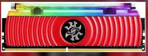 Imagem 1 de 1 de Memória Adata Xpg Spectrix D80 Rgb 8gb Ddr4 3200mhz Vermelho