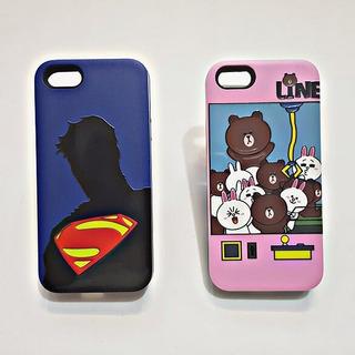 Funda iPhone 5 6 7 8 Plus Case Cartoon Kitty Snoopy Superman