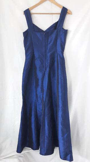 Vestido De Fiesta - Talle 46 - Color Azul