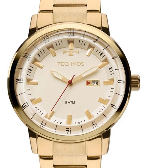 Relógio Technos Masculino 2115lap/4x Dourado Classic Golf Nf