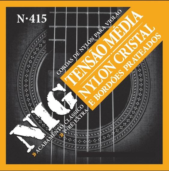 Encordoamento Nig Cordas Violão Nylon Média 028 043 N415