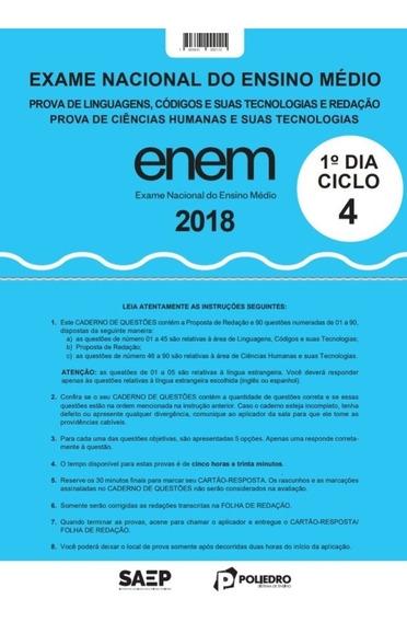Ciclo 4 Simulado Poliedro Enem De 2018 Com Resolução