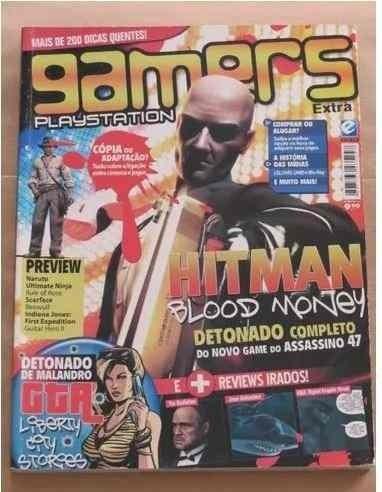 Revista Gamers Playstation - Hitman Gta Naruto Ps1 Ps2 Psp