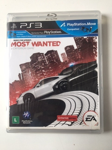 Jogo Ps3 Need For Speed Most Wanted Edition M.física