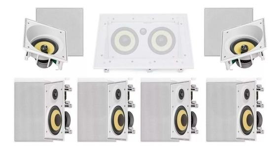 Kit Home Theater Jbl 7.0 Emb. 2x Ci6sa + 1x Ci55ra + 4x Ci6r
