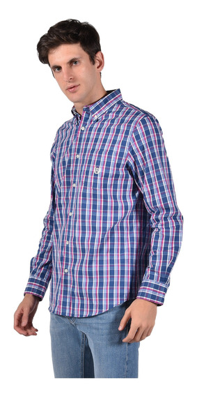 Camisa Stretch Fit Chaps Azul 750735480-2z3g Hombre