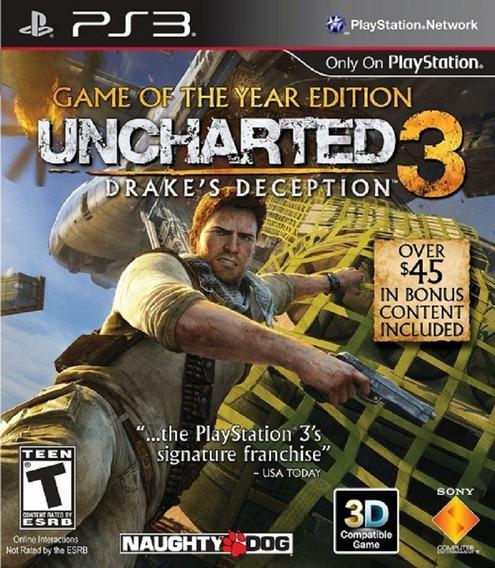 Uncharted 3 + Todos Os Mapas Ps3 Play3 Dublado Pt Br