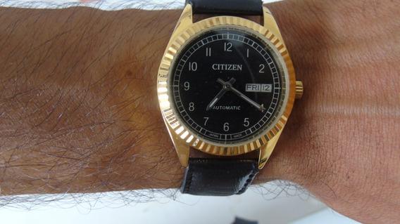 Relógio Citizen- Antigo Original - Automático - Plaquet Ouro