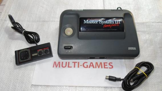 Master System 3 Com Sonic Na Memoria Pronto Pra Jogar.
