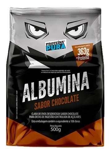 Imagem 1 de 2 de Albumina Proteina Pura - Sabor Chocolate  - 500g