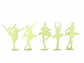 200 Bailarinas 15cm Variadas Mdf Cru Lembrancinhas Festas
