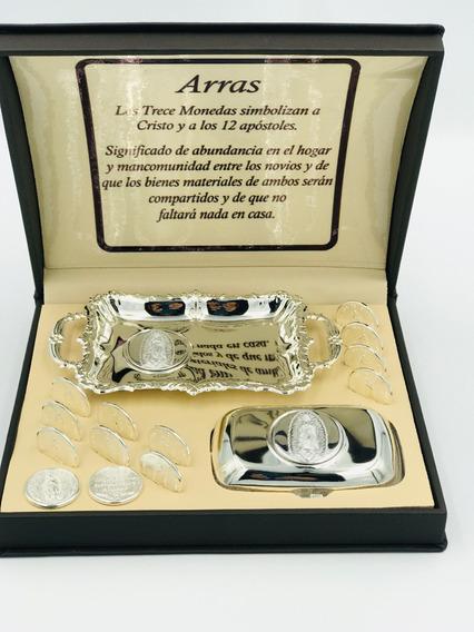 Arras Boda Chapa Oro Blanco Calidad Medalla Virgen Guadalupe