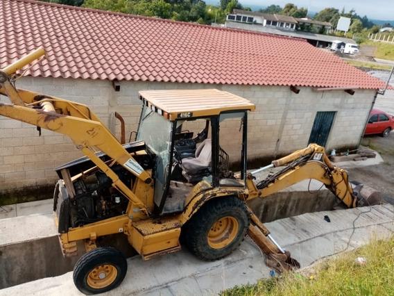 Excavadora Caterpillar 416c Con Extensión De Brazo
