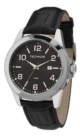 Relógio Technos Masculino 2115mlb/0p Aço Couro Preto
