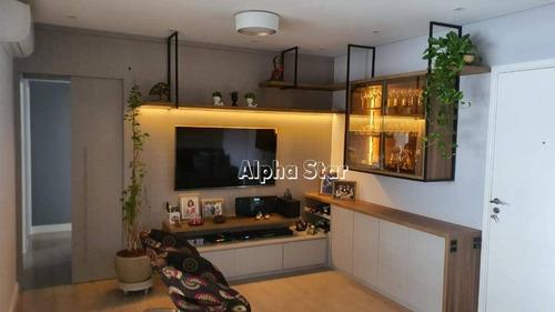 Apartamento Com 3 Dormitórios À Venda, 107 M² Por R$ 1.050.000 - Edifício London Ville - Barueri/sp - Ap2021