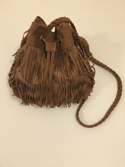 Cartera Flecos H&m Color Marron