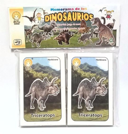 Memorama Educativo De Los Dinosaurios Didáctico Escolar