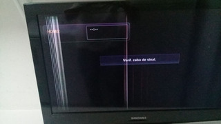 Tv Lcd Samsung32 Con Falla Lineas Verticales Sin Control Rem