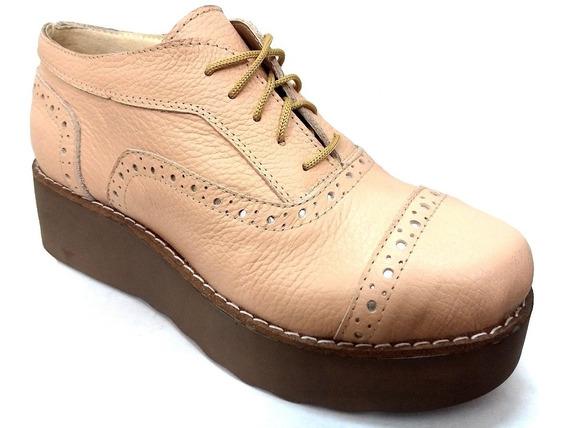 Zapatos Altos De Cuero Vacuno Fuzz Art 1100