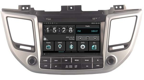 Radio Navegador Carro Hyundai Tucson 2016 Gps Bluetooth