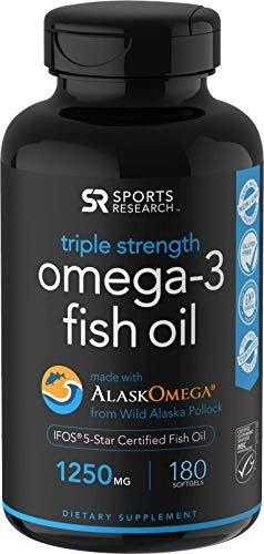 Aceite De Pescado Salvaje De Alaska Omega-3 (1250 Mg Por Cap