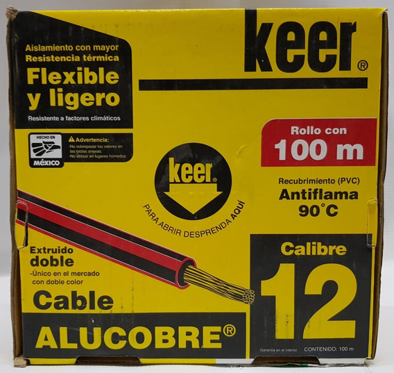 Cable Eléctrico # 12 Alucobre Blanco Verde Rojo Negro Keer